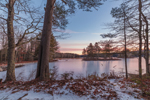 Winter Sunrise at Harvard Pond, Petersham, MA