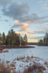 Winter Sunset at Sportsman Pond, Fitzwilliam, NH