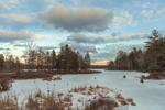 Winter Sunset at Sportsman Pond, Fitzwilliam, NH