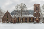 Alumni Memorial Chapel at Wilbraham and Monson Academy in Winter, Academy HIstoric District, Wilbraham, MA