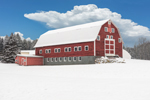 Big Red Barn in Winter, Belchertown, MA