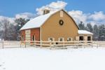Horse Barn in Winter, Belchertown, MA