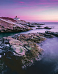 Beavertail Lighthouse at Sunset, Beavertail State Park, Jamestown, RI