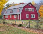 Big Red Barn in Fall, Oakham, MA