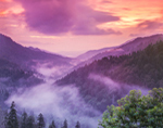 Sunset View from Morton Overlook, Great Smoky Mountains National Park, TN