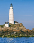 Boston Light, National Historic Landmark, Little Brewster Island, Boston Harbor Islands National Recreation Area, Hull, MA