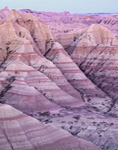 Colorful Clay Soils on Spires and Buttes, View from Panorama Point Overlook, Badlands National Park, SD
