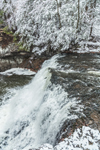 Wadsworth Falls on the Coginchaug River in Snowstorm, Wadsworth Falls State Park, Rockfall Village, Middlefield, CT