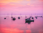 Predawn and Light Fog over Boats in Southwest Harbor, Mt. Desert Island, Village of Manset, Southwest Harbor, ME