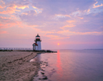 Brant Point Light at Sunrise, Nantucket Harbor, Nantucket, MA