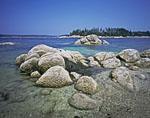 Boulders, Barnacles and Clear Water on The Fort (Island)
