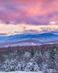 Winter Morning in White Mountains, White Mountain National Forest, View from Woodstock, NH