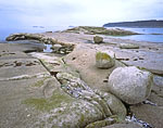 Boulders on Rocks, Western Shoreline of Sand Island