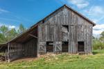 Old Weathered Wooden Barn in Spring, Piedmont Region, Pittsylvania County, Village of Spring Garden, Chatham, VA
