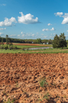 Green Pastures and Tilled Red Clay Soils in Spring, Piedmont Region, Pittsylvania County, Village of Chalk Level, Gretna, VA