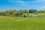 Farm Fields and Pond in Spring, Piedmont Region, Oconee County, Fair Play, SC