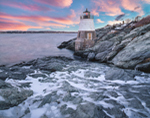 Castle Hill Lighthouse at Sunset, Narragansett Bay, Newport, RI