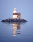 Execution Rocks Lighthouse, Long Island Sound, Long Island, Nassau County, Township of North Hempstead, NY