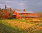 Old Red Barn in Early Evening Light, Charlotte, VT