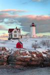 Nubble Light (Cape Neddick Light) after Snowstorm, Cape Neddick, York, ME