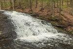 Chapel Falls on Chapel Brook in Spring Freshet, Chapel Brook Reservation, Pioneer Valley, Ashfield, MA