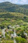 Sunderland and Mount Toby in Early Spring, Pioneer Valley, View from Top of Mount Sugarloaf in South Deerfield, MA
