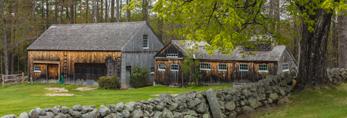 Natural Wood Barn with Old Sugar House and Stone Wall, Rindge, NH