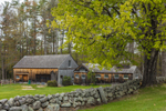 Natural Wood Barn with Old Sugar House and Stone Wall, Rindge, NH