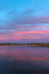 Colorful Sunset on Congdon Cove, Point Judith Pond, South Kingstown, RI