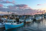 Fishing Fleet at Sunset in Stonington Harbor, Stonington, CT