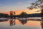 Early Morning Fog on Harvard Pond at Dawn, Petersham, MA