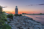 Avery Point Lighthouse at Dawn, University of Connecticut at Avery Point, Groton, CT
