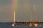 Rainbow over Boats in Scituate Harbor, Scituate, MA