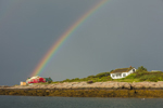 Rainbow and Dark Storm Clouds over Cedar Island, Isles of Shoals, Kittery, ME