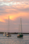 Sunset over Boats in Scituate Harbor, Scituate, MA