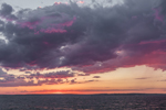 Colorful Clouds at Sunset after Thunderstorms, East Harbor, Fishers Island Sound, Fishers Island, Southold, NY