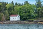 Boathouse on Pole Island, Quahog Bay, Casco Bay Region, East Harpswell, ME