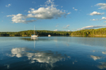 Late Evening Light and Cloud Reflections at The Basin, Phippsburg, ME