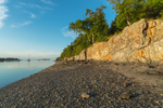 Rock Cliffs along Shoreline of Jewell Island at Low Tide, Casco Bay, Portland, ME