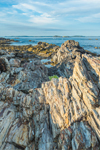 Jagged Rocks along Shoreline of Jewell Island at The Punchbowl, Casco Bay, Portland, ME