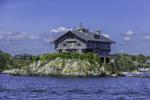 House Built on Small Island (Dumplings), East Passsage Narragansett Bay, Jamestown, RI
