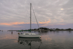 Sunset over Sailboats in Scituate Harbor, South Shore, Scituate, MA