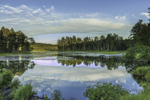 Cloud Reflections at Lawrence Brook in Late Evening Light, Royalston, MA