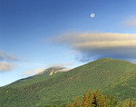 Moon over Whiteface Mountain, Adirondack High Peaks Area