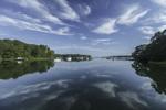 Cloud Reflections on a Sunny Day at Lake Tashmoo, Martha's Vineyard, Tisbury, MA