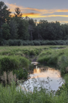 Sunset over Marshes and Lawrence Brook, Royalston, MA