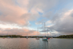 Early Morning Light over Boats in Mill Cove, Wickford Harbor, Village of Wickford, North Kingstown, RI