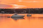 Boats at Sunrise in Point Judith Pond, Narragansett, RI