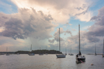 Storm Clouds over Boats in Pine Island Bay, off Fishers Island Sound, Groton, CT