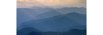 View of Great Smoky Mountain National Park from Mile High Overlook